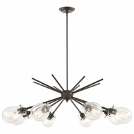 31939/8 ELK Lighting Jaelyn 8-Light Chandelier in Oil Rubbed Bronze with Clear Glass