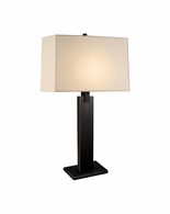3305.51 Sonneman Monolith Contemporary Table Lamp with Black Brass Finish