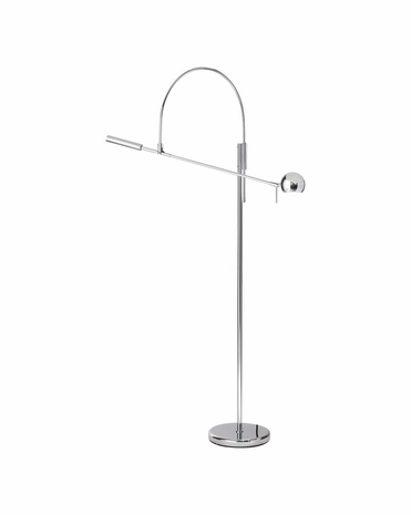 3330.01 Sonneman Orbiter® Contemporary Floor Lamp with Polished Chrome Finish