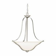 3384NI Kichler Transitional Inverted Pendant Small Pendant 3Lt