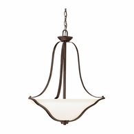3384OZ Kichler Transitional Inverted Pendant Small Pendant 3Lt
