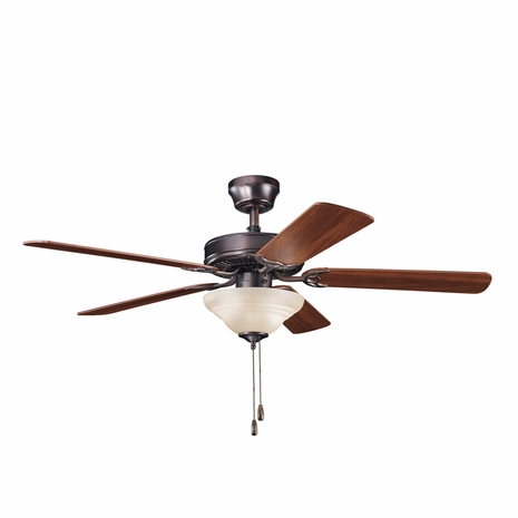 339220OBB Kichler Builder 52 Inch Sterling Manor Select Fan (DISCONTINUED ITEM!)