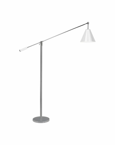 3634.01W Sonneman Modern Origins Unoluci Floor Lamp in Polished Chrome Finish