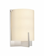3671.01F Sonneman Arc Edge Contemporary ADA Fluorescent Wall Sconce with Polished Chrome Finish