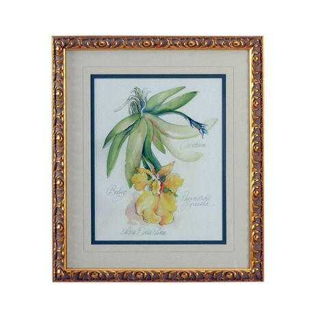 380470 Chelsea House Lithograph Print Gold Frame With V-Groove Mat Elissas Garden - III
