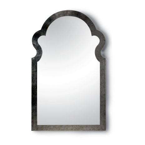 381638 Chelsea House Antique Silver Finish Antique Silver Finish Jagger Mirror - Silver