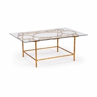 381689 Chelsea House Lisa Kahn Iron With Antique Gold Finish Lisa Kahn Collection Tracery Cocktail Table - Gold