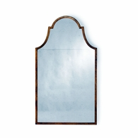 381693 Chelsea House Lisa Kahn Iron/Mirror Antique Gold Leaf/Antique Architectural Arch Mirror