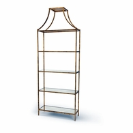 381695 Chelsea House Lisa Kahn Iron With Antique Gold Leaf Finish Lisa Kahn Collection Classic Gilt Shelf