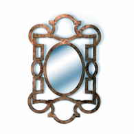 381807 Chelsea House Lisa Kahn Metal Frame With Antique Gold Leaf Lisa Kahn Collection Tracery Mirror - Gold