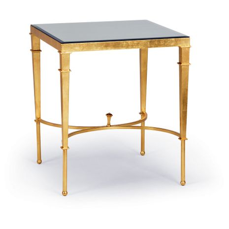 381866 Chelsea House Iron Gold Leaf Regent Table - Gold