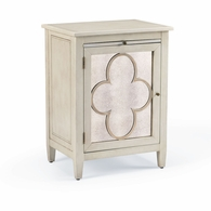 381979 Chelsea House Lisa Kahn Hand Finished Wood Quatrefoil Cabinet - Right