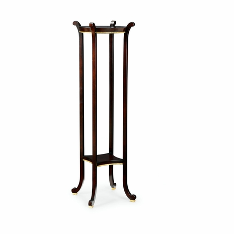 382100 Chelsea House Wood Black With Gold Accents Paris Fern Stand