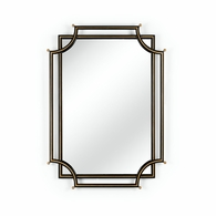 382321 Chelsea House Bradshaw Orrell Black Frame With Gold Line Bradshaw Orrell Design London Church Mirror