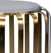382682 Chelsea House Bradshaw Orrell Antique Brass Finish Iron - Concrete Top Rogers Table