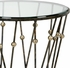 382683 Chelsea House Bradshaw Orrell Antique Black - Antique Silver Accents Iron - Clear Glass Top Wire & Ball Table