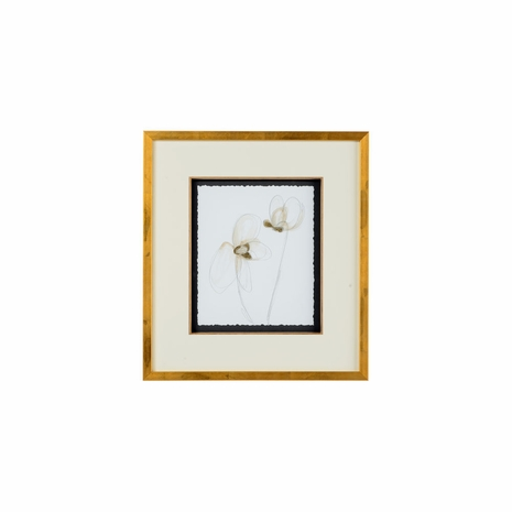 386943 Chelsea House Hand Embellished Giclee Print With Gold Leaf Garden Gestures III