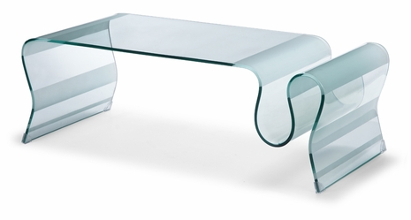 404102 Zuo Modern Discovery Coffee Table in Tempered Glass Finish