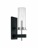 4060.54 Sonneman Tuxedo Contemporary Wall Sconce with Chrome and Black Finish
