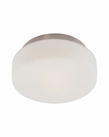 "4158.13 Sonneman Pan Contemporary 10 1/2"" Surface Mount with Satin Nickel Finish"