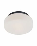 "4158.25 Sonneman Pan Contemporary 10 1/2"" Surface Mount with Satin Black Finish"