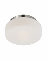 "4158.35 Sonneman Pan Contemporary 10 1/2"" Surface Mount with Polished Nickel Finish"