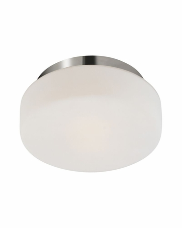 """4158.35 Sonneman Pan Contemporary 10 1/2"""" Surface Mount with Polished Nickel Finish"""