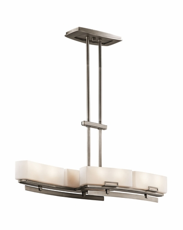 42427AP Kichler Leeds Linear 8Lt Chandelier Linear (Double)