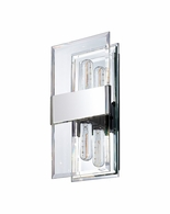 4282.01 Sonneman Mercer Street Urban Edge ADA Double Wall Sconce with Polished Chrome Finish