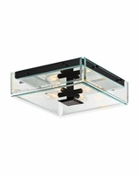 4285.25 Sonneman Mercer Street Urban Edge Surface Mount with Satin Black Finish