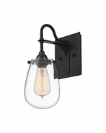 4286.25 Sonneman Chelsea Urban Edge Bath Wall Sconce with Satin Black Finish
