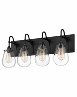 4289.25 Sonneman Chelsea Urban Edge 4-Light Bath Bar with Satin Black Finish