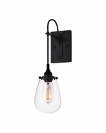 4290.25 Sonneman Chelsea Urban Edge Wall Sconce with Satin Black Finish