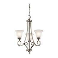 43155NI Kichler Traditional Chandelier 1 Tier Small Chandelier 3Lt