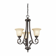 43155OZ Kichler Traditional Chandelier 1 Tier Small Chandelier 3Lt