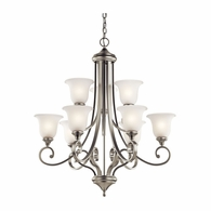 43159NI Kichler Traditional 2 Tier Chandelier 9Lt
