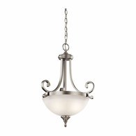 43163NI Kichler Fixtures Traditional Brushed Nickel Pendant 2Lt