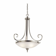 43164NI Kichler Fixtures Traditional Brushed Nickel Pendant 3Lt