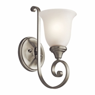 43170NI Kichler Traditional Wall Bracket Wall Sconce 1Lt