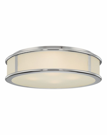 4335.35 Sonneman Transitional Rivello 22 inch Surface Mount in Polished Nickel Finish