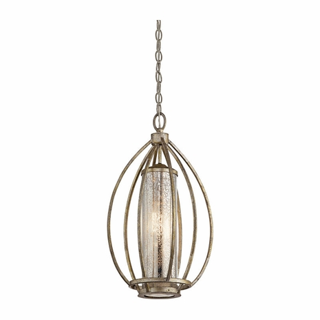 43452SGD Kichler Fixtures Transitional Sterling Gold Pendant 1Lt