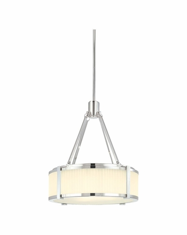"4352.35 Sonneman Roxy Contemporary 16"" Pendant with Polished Nickel Finish"