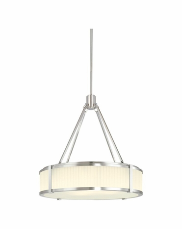 4353.13 Sonneman Transitional Roxy 22 inch Pendant in Satin Nickel Finish