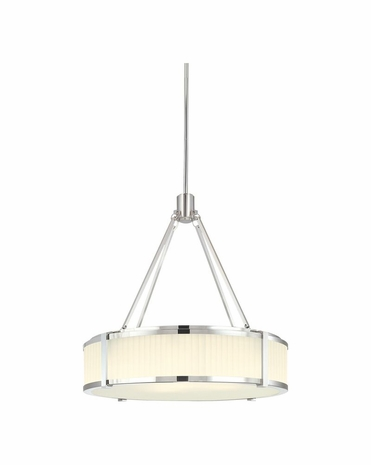 """4353.35 Sonneman Roxy Contemporary 22"""" Pendant with Polished Nickel Finish"""