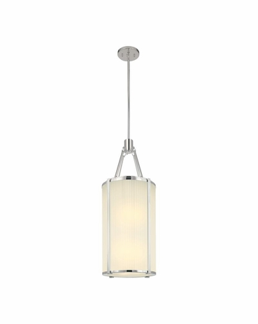 "4357.35 Sonneman Roxy Contemporary 12"" Lantern with Polished Nickel Finish"