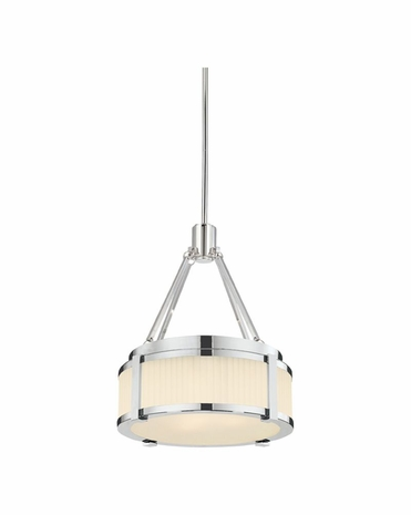 """4358.35 Sonneman Roxy Contemporary 12"""" Pendant with Polished Nickel Finish"""