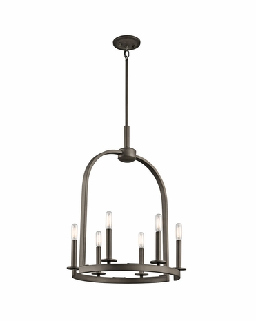 43676OZ Kichler Lodge/Country/Rustic Daria Pendant 6Lt (olde bronze)