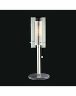 4392.57 Sonneman Zylinder Contemporary Table Lamp with Black & Chrome Finish