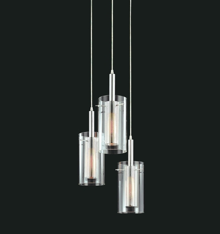 4395 Sonneman Lighting Modernist Zylinder Collection 3 Light Pendant