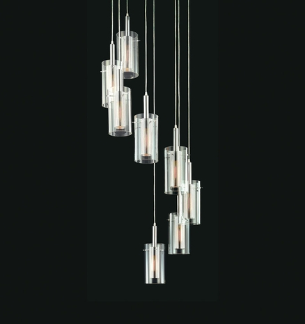 4399 Sonneman Lighting Modernist Zylinder Collection 8 Light Pendant